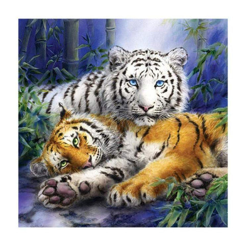 Image of Couple Tiger - DIY Diamond Painting