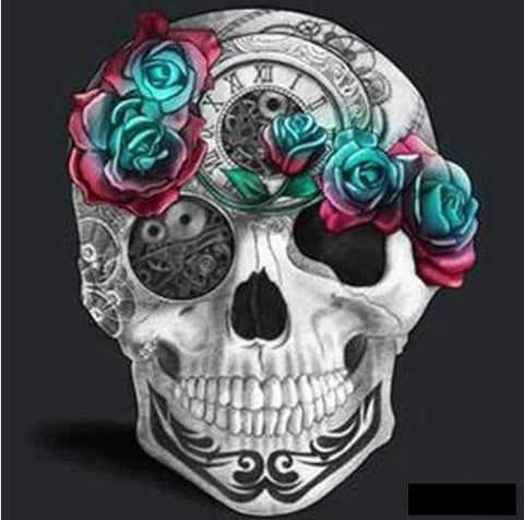 Image of Flowery Skull - DIY Diamond Painting