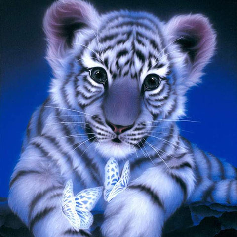 Image of White Tiger - DIY Diamond Painting