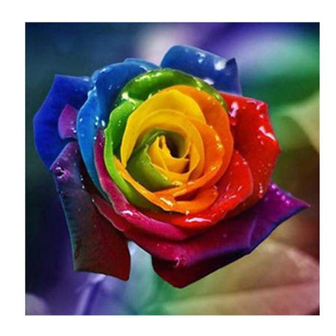 Image of Rainbow Rose - DIY Diamond Painting