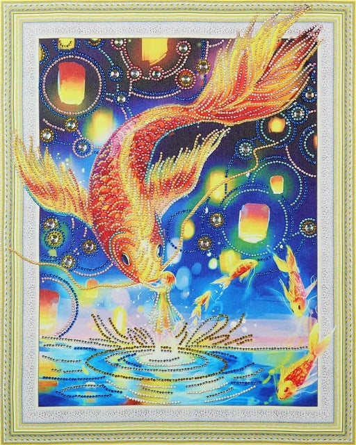 Gold Fish - Glittering 5D DIY Diamond Painting