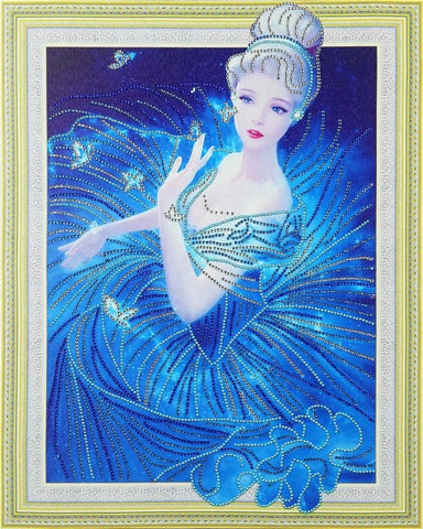 Image of Princess in Blue - Glittering 5D DIY Diamond Painting