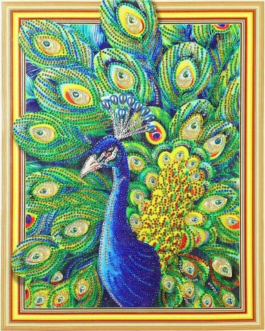 Image of Glittering Peacock - Glittering 5D DIY Diamond Painting