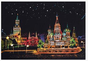 Red Square Moscow - DIY Scratch Painting