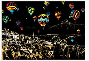 Image of Cappadocia - DIY Scratch Painting