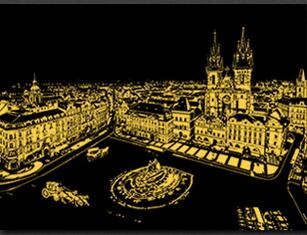 Prague - DIY Scratch Painting