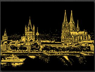 Image of Cologne Cathedral - DIY Scratch Painting