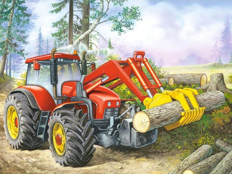Heavy Duty Truck and Logs - DIY Diamond Painting