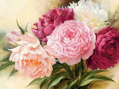 Lovely Carnation Flower - DIY Diamond Painting