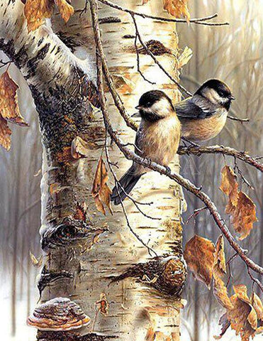 Image of Winter Birds - DIY Diamond Painting