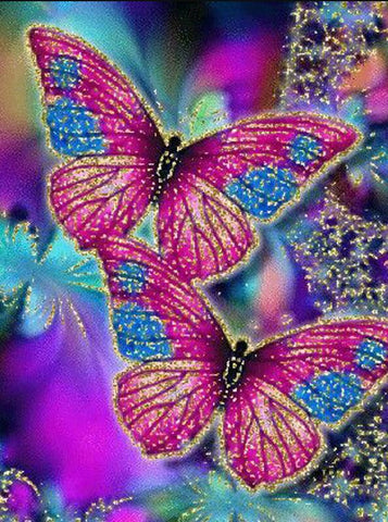 Image of Glittering Butterfly - DIY Diamond Painting