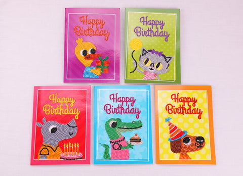 Birthday Cards (Animals) - DIY Diamond Painting