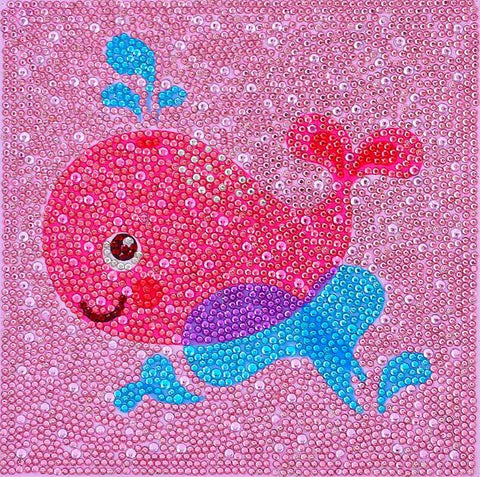 Image of Happy Whale - DIY Diamond Painting for Kids
