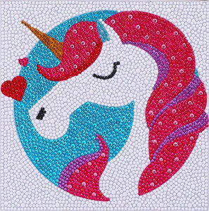 Lovely Unicorn - DIY Diamond Painting for Kids