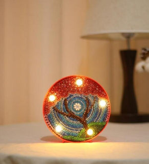 Mandala Tree - DIY Diamond Painting LED Lamp