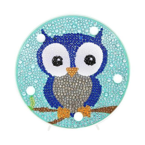 Baby Owl - DIY Diamond Painting LED Lamp