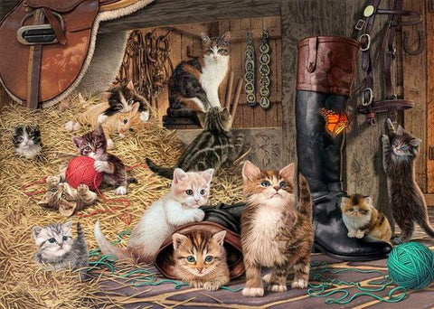 Image of Cats in the Barn - DIY Diamond Painting