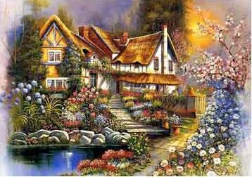 Image of Country House #1 - DIY Diamond  Painting