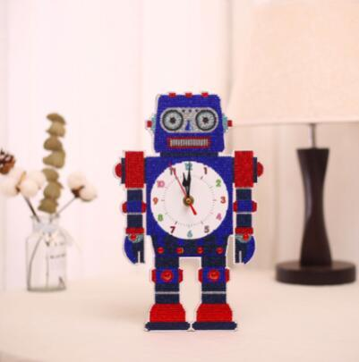 Image of Funny Robot - DIY Table Clock Diamond Painting