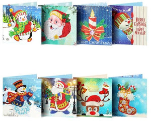 Christmas Set #5 (8pcs) - DIY Diamond Painting Christmas Cards
