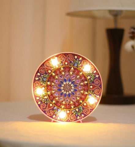 Mandala Flower  - DIY Diamond Painting LED Lamp