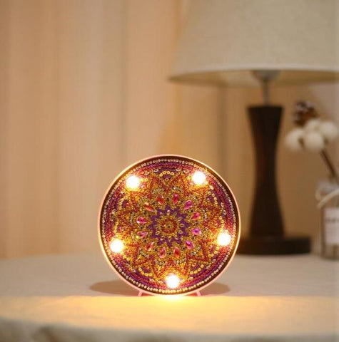 Mandala Lotus - DIY Diamond Painting LED Lamp