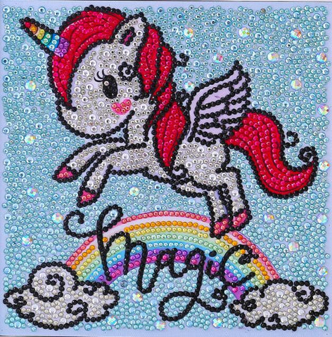 Image of Magical Unicorn - DIY Diamond Painting for Kids