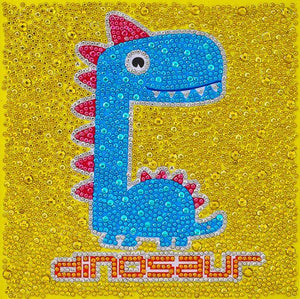Lovely Dinosaur - DIY Diamond Painting for Kids