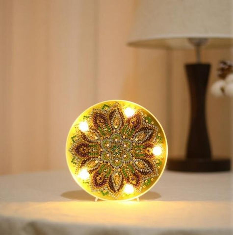 Mandala Lily - DIY Diamond Painting LED Lamp