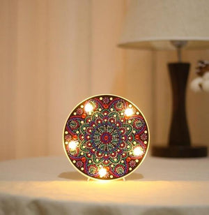 Mandala Daisy - DIY Diamond Painting LED Lamp