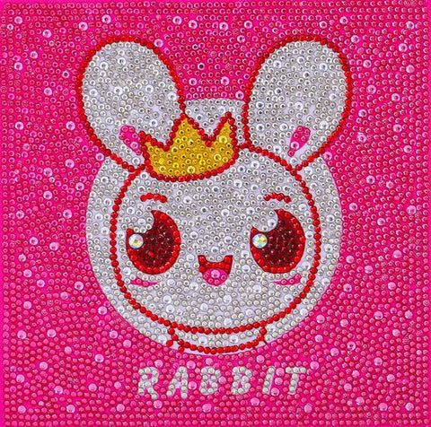 Happy Rabbit - DIY Diamond Painting for Kids