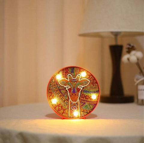 Giraffe - DIY Diamond Painting LED Lamp