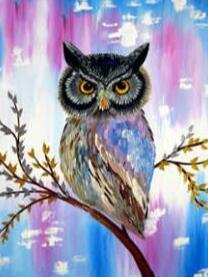 Image of Grumpy Owl - DIY Diamond Painting