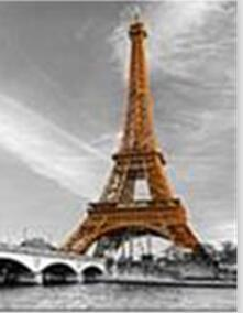Image of Eiffel Tower in Vintage View - DIY Diamond Painting