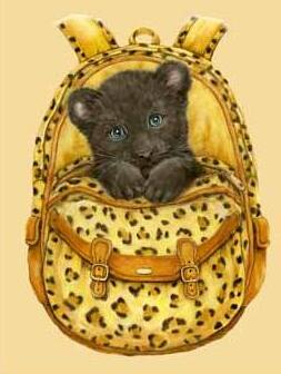 Image of Cheetah in a Yellow Bag - DIY Diamond Painting