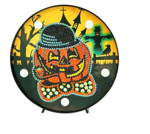 Halloween Pumpkin - DIY Diamond Painting LED Lamp