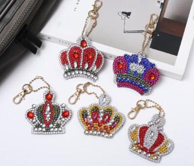 Crowns (5pcs) - DIY Diamond Painting Keychain