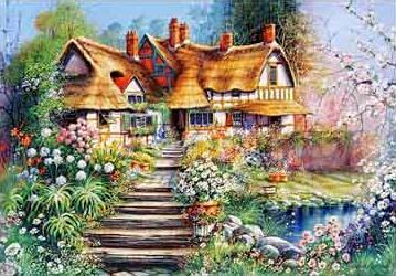 Image of Country House #6 - DIY Diamond  Painting