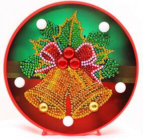 Image of Jingle Bell Wreath - DIY Diamond Painting LED Lamp