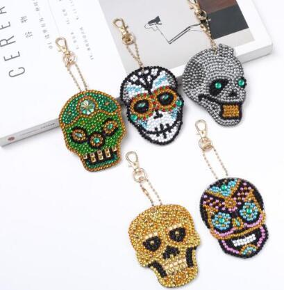 Skull (5pcs) - DIY Diamond Painting Keychain