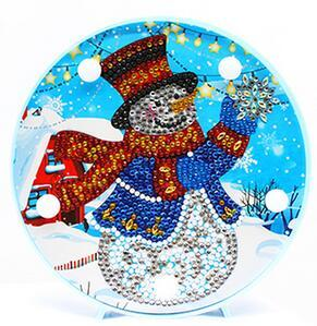Happy Snowman - DIY Diamond Painting LED Lamp
