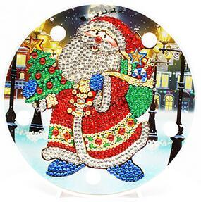 Image of Happy Santa - DIY Diamond Painting LED Lamp
