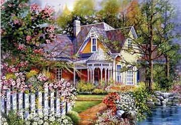 Image of Country House #2 - DIY Diamond  Painting