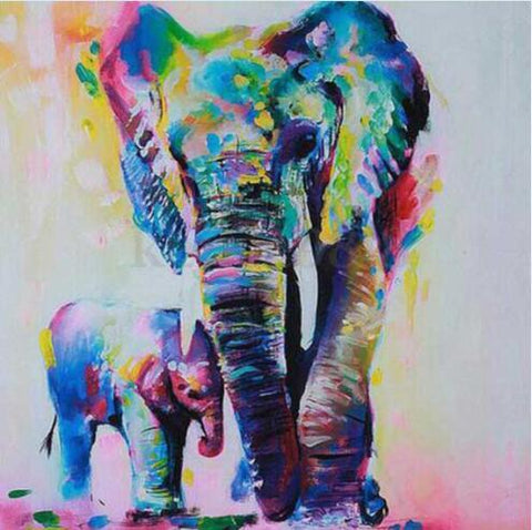 Image of Mother and Child Elephant - DIY Diamond Painting