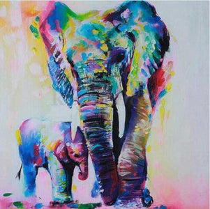 Mother and Child Elephant - DIY Diamond Painting