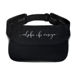 "Alpha Chi Omega Embroidered ""Script"" Visor"