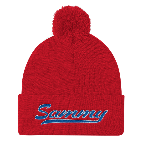Sigma Alpha Mu Embroidered Supreme Pom Pom Beanie