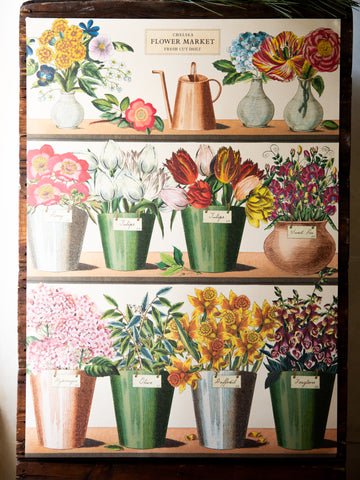 Vintage Poster/Gift Wrap - Flower Shop