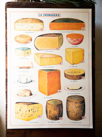 Vintage Poster/Gift Wrap - Fromagerie