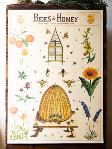 Vintage Poster/Gift Wrap - Bees & Honey